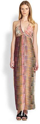 T-Bags Los Angeles Printed Halter Maxi Dress