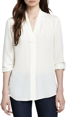 Theory Helona Georgette Blouse