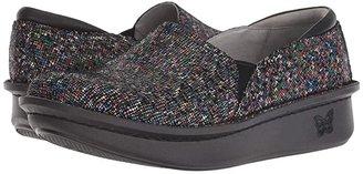 Alegria Debra Professional (Black Leather) Women's Slip on Shoes