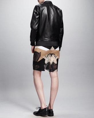 Givenchy Pullover Leather Sweatshirt