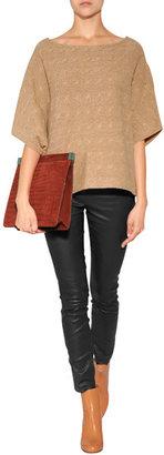 Ralph Lauren Blue Label Wool-Cashmere Dolman Sleeve Pullover in Camel