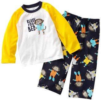 Carter's monkey raglan pajama set - baby