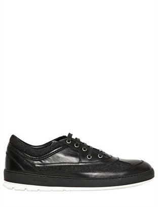 Christian Dior Flannel & Leather Sneakers