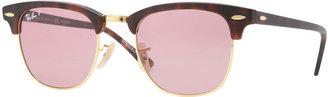 Ray-Ban Classic Clubmaster Sunglasses, Matte Havana/Pink