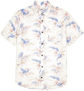 NN07 Tyrion White Linen Shirt
