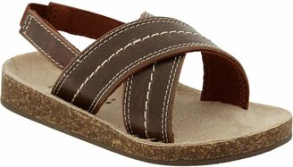 Old Navy Faux-Leather Cross-Strap Sandals for Baby