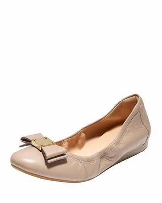 Cole Haan Tali Bow Ballet Flat, Maple Sugar $178 thestylecure.com