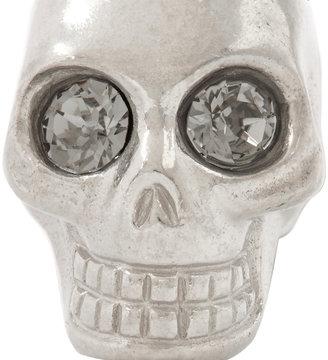 Alexander McQueen Silver-Plated Skull Cufflinks