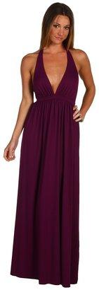 Susana Monaco Halter Gown (Berry) - Apparel