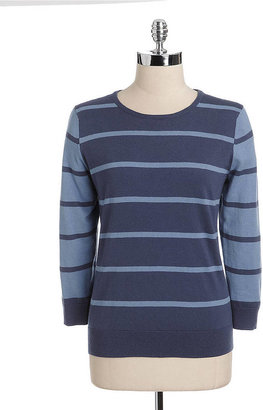 Lord & Taylor Striped Crewneck Sweater