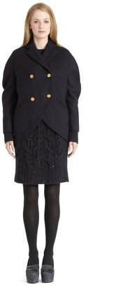 Brooks Brothers Navy Wool Cocoon Coat