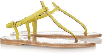K Jacques St Tropez Buffon nubuck leather sandals