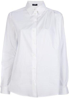 Jil Sander Navy pleated shoulder shirt