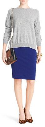 Diane von Furstenberg Austine Silk Combo Sweater In Silver Lining