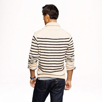 J.Crew Stripe cotton shawl cardigan