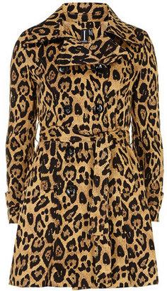 Dorothy Perkins Black multi leopard print coat