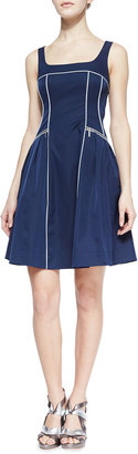 Nanette Lepore Spring Contrast-Trim Party Dress
