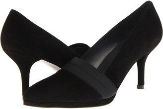 Stuart Weitzman Cityhall (Black Suede) - Footwear