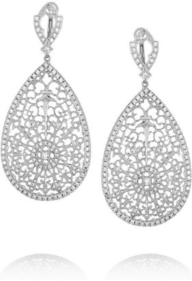 Loree Rodkin Lacey white gold diamond earrings