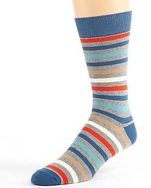 JCPenney PACT Denim Farm Stripe Crew Socks