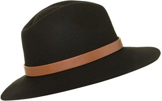 Linea Felt fedora with belt trim