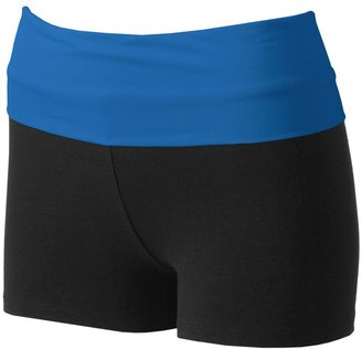 One step up fold-over yoga shorts - juniors