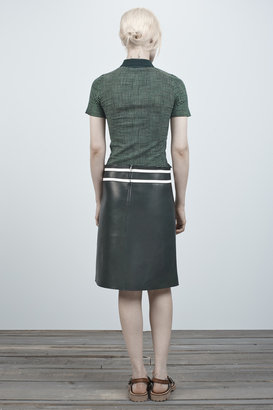 Marc Jacobs Leather A-line Skirt