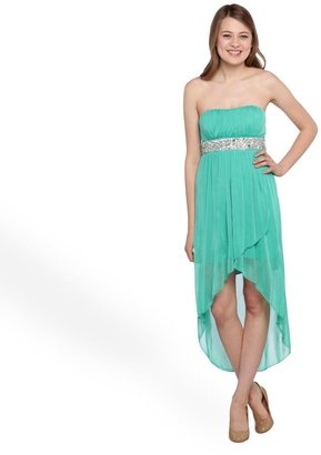 Trixxi Junior's Strapless Chiffon Party Dress