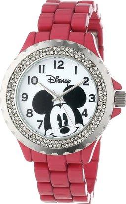 Disney Women's W000505 Mickey Mouse Enamel Sparkle Bracelet Watch