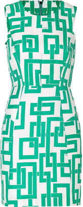 Milly Linen-Silk Link Sheath Dress in Mint