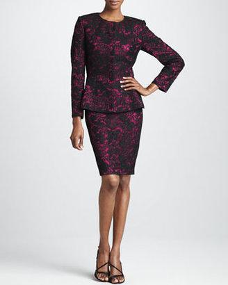 Albert Nipon Lace Suit