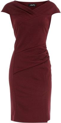 Dorothy Perkins Feverfish Burgundy pleat dress