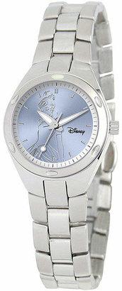 DISNEY PRINCESS Disney Fortaleza Cinderella Womens Silver-Tone Watch