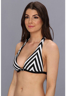 Becca by Rebecca Virtue Optical Illusion Belt Buckle Bikini Top