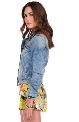 Romeo & Juliet Couture Studded Jean Jacket
