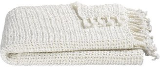 Crate & Barrel Open Weave Ivory Throw