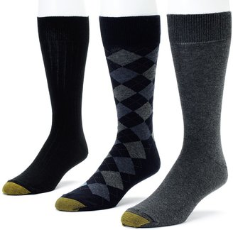 Gold Toe Men's GOLDTOE 3-pk. Double-Argyle Dress Socks