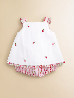 Florence Eiseman Infant's Woven Pique and Floral Romper