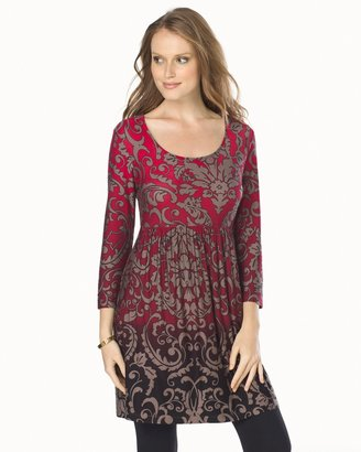 Soma Intimates Soft Jersey Empire Waist 3/4 Sleeve Tunic Wallpaper Ombre