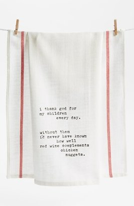 Second Nature By Hand 'Thank God for Children' Towel (2 for $16)