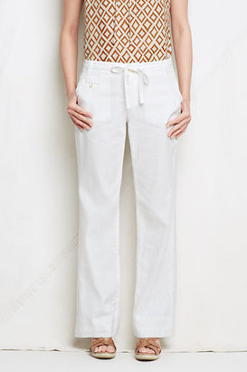 Lands' End Women's Regular Linen Cotton Wide Leg Pants