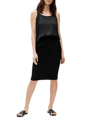 Eileen Fisher Washable Stretch Crepe Pencil Skirt