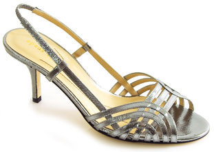 Kate Spade Mode - Pewter Leather Metallic Sandal