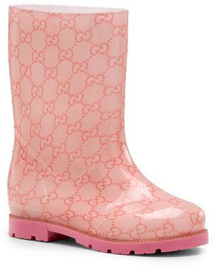 Gucci GG Rain Boot, Pink, Youth