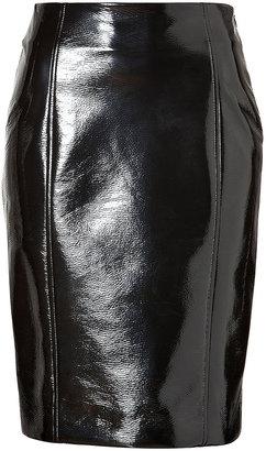 Jonathan Saunders Agua Vinyl Straight Elina Skirt in Black