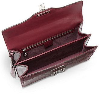 Gucci Lady Lock Python Briefcase Clutch