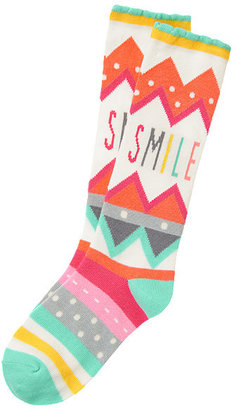 Gymboree Smile Chevron Knee Sock