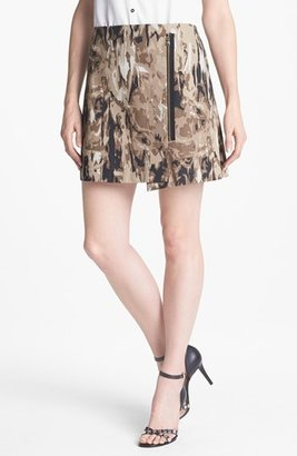 Kenneth Cole New York 'Livvy' Print Skirt Black Combo 0