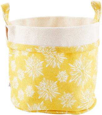 Container Store Fabric Bucket Starburst Yellow