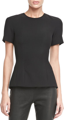 L'Agence Back-Zip Flared Top